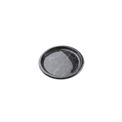ROM8707 Πιάτο Ρηχό Στρογγυλό Φ18x2cm, PET,  Μίας Χρήσης, Χρώμα μαύρου μαρμάρου με μπλε νερά, Sabert
