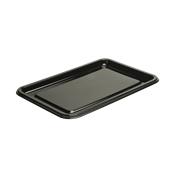 BLA9318-50 Δίσκος πλαστικός παρουσίασης 46x30cm Ορθογώνιος, Μίας Χρήσης, PET, Μαύρος, Sabert
