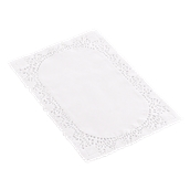 DEN50003545 Πακέτο 250 Χάρτινες Δαντέλες Ορθογώνιες 35x45cm, Λευκές, Μίας Χρήσης