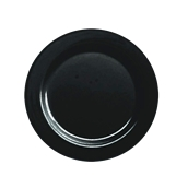 INJPLBK2320C10 Πιάτο Ρηχό Στρογγυλό Φ23cm, Μαύρο, PS, Μίας Χρήσης, Σειρά mozaik, Sabert