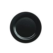 INJPLBK1920C10 Πιάτο Ρηχό Στρογγυλό, Φ19cm, Μαύρο, PS, Μίας Χρήσης, Σειρά mozaik, Sabert