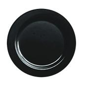 INJPLBK2620C10 Πιάτο Ρηχό Στρογγυλό Φ26cm, Μαύρο, PS, Μίας Χρήσης, Σειρά mozaik, Sabert