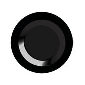 INJPLDPBK2320C10 Πιάτο Βαθύ Στρογγυλό, Φ23cm, Μαύρο, PS, Μίας Χρήσης, Σειρά mozaik, Sabert