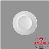 LIN--FP-20 Πιάτο Οπαλίνης Ρηχό 20 cm, Λευκό, Tempered, Σειρά Linea, Harmonia Spain