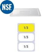 JW-P13HH Καπάκι Polycarbonate GN1/3 (32.5x17.6) Με Εγκοπη