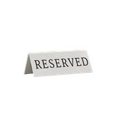 TN-RES-EN ΣΕΤ 5 τεμαχίων επιγραφή RESERVED πλαστική, 10 x 5 x 4 cm, SECURIT