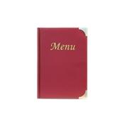 MC-BRA5-WR Κατάλογος MENU BASIC A5 για Εστιατόρια / cafe 18x25cm, κόκκινος, SECURIT