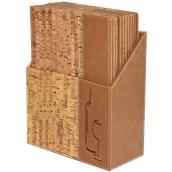 MC-BOX-DRWC-CORK Θήκη-κουτί με 10 Καταλόγους Κρασιών A4 CORK 24x34cm, σχέδιο φελλού, SECURIT