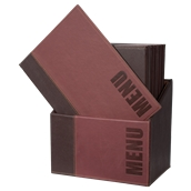MC-BOX-TRA4-WR Θήκη-κουτί με 20 Καταλόγους MENU A4 TRENDY 24x34cm, κόκκινη, SECURIT