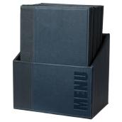 MC-BOX-TRA4-BU Θήκη-κουτί με 20 Καταλόγους MENU A4 TRENDY 24x34cm, μπλε, SECURIT