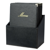 MC-BOX-CRA4-BL Θήκη-κουτί με 20 Καταλόγους MENU A4 CLASSIC 24x36cm, μαύρη, SECURIT