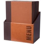 MC-BOX-TRA4-LB Θήκη-κουτί με 20 Καταλόγους MENU A4 TRENDY 24x34cm, ανοιχτή καφέ, SECURIT