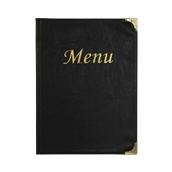 MC-BRA4-BL Κατάλογος MENU BASIC A4 για Εστιατόρια / cafe 24x34cm, μαύρος, SECURIT