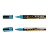 BL-SMA510-BU ΣΕΤ 2 Μαρκαδόροι υγρής κιμωλίας με μεσσαία μύτη, σε χρώμα μπλε, SECURIT
