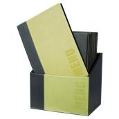 MC-BOX-TRA4-GR Θήκη-κουτί με 20 Καταλόγους MENU A4 TRENDY 24x34cm, πράσινη, SECURIT