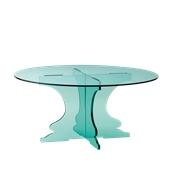 R12-3016GL Βάση τούρταs Ακρυλικη, φ30 x Y16cm, διαφανές glass look, GARIBALDI