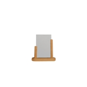 PFT-TE-SM Επιτραπέζια θήκη A6 φυλλαδίων, 5 x 15 x 17 cm, teak, SECURIT