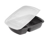 HOTCOM7822930C6 Δοχείο Τροφίμων με καπάκι, 900ml, 23x16x5cm, PP,  Μαύρο, Μίας Χρήσης, Sabert