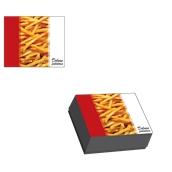 BXD-16-13.5-6.3/KG Κουτί Ψητοπωλείου Μεταλιζέ για πατάτες διπλή, σχέδιο Deluxe Potatoes (τιμή ανά κιλό)