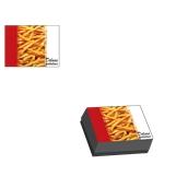 BXD-13-10-5/KG Κουτί Ψητοπωλείου Μεταλιζέ για πατάτες μερίδα, σχέδιο Deluxe Potatoes (τιμή ανά κιλό)