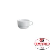 PFM-CP-130 Στοιβαζόμενη κούπα Οπαλίνης 130 ml, Λευκή, Tempered, Σειρά Performa, Bormioli Rocco