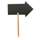FBS-ARROW Πινακίδα σήμανσης σε σχήμα βέλους με ξύλινο κοντάρι (περιλαμβάνεται 1 μαρκαδόδος)