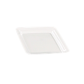 INJPLSQCL1820C10 Πιάτο Ρηχό 18 x 18 cm, Διάφανο, PS, Μίας Χρήσης, Σειρά mozaik, Sabert