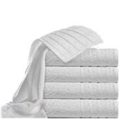T550PN/70X140 Πετσέτα μπάνιου λευκή με ρίγες στις άκρες 70 x 140 cm, 550gr/m², Πενιέ