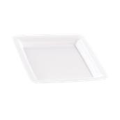 INJPLSQWH2320C10 Πιάτο Ρηχό 23 x 23 cm, Άσπρο, PS, Μίας Χρήσης, Σειρά mozaik, Sabert