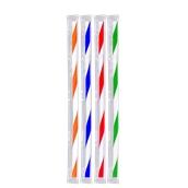 FS102016XBF 1000 Καλαμάκια BICOLOR Σελοφάν 1/1, Σπαστά, ΦΡΑΠΠΕ, Φ5x240 mm, Πολύχρωμα