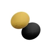 DM-25/BK-GD Δίσκος-Βάση Τούρτας Χάρτινη Στρογγυλή Φ25cm σε χρυσό και μαύρο χρώμα, Ιταλίας (τιμή ανά κιλό)