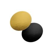 DM-28/BK-GD Δίσκος-Βάση Τούρτας Χάρτινη Στρογγυλή Φ28cm σε χρυσό και μαύρο χρώμα, Ιταλίας (τιμή ανά κιλό)