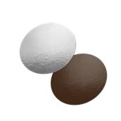 DM-30/CK-SI Δίσκος-Βάση Τούρτας Χάρτινη Στρογγυλή 30cm σε ασημί και σοκολατί χρώμα, Ιταλίας (τιμή ανά κιλό)