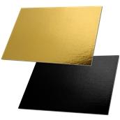 DM-35X50/BK-GD Δίσκος-Βάση Τούρτας Χάρτινη Ορθογώνια 35x50cm σε χρυσό και μαύρο χρώμα, Ιταλίας (τιμή ανά κιλό)