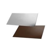 DM-15X30/CK-SI Δίσκος-Βάση Τούρτας Χάρτινη Τετράγωνη  15x30cm σε ασημί και σοκολατί χρώμα, Ιταλίας (τιμή ανά κιλό)