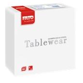 88400100 ΠΑΚΕΤΟ 50 Χαρτοπετσέτες Airlaid Tablewear 40x40 λευκές, FATO Ιταλίας