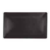 NOIR.190.37 Ορθογώνιο Πιάτο πορσελάνης SUSHI (μαύρο) 37.5x27.5x2cm