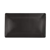 NOIR.190.35 Ορθογώνιο Πιάτο πορσελάνης SUSHI (μαύρο) 35x21x2cm
