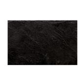 ARD.3522 Ορθογώνια Πιατέλα Πορσελάνης Χειροποίητη (με όψη σχιστόλιθου), 35x22x0.7cm, μαύρη