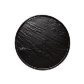 ARD.2828 Στρογγυλή Πιατέλα Πορσελάνης Χειροποίητη (με όψη σχιστόλιθου), φ28.5x0.7cm, μάυρη