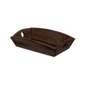 000.180/DK Ξύλινη Ψωμιέρα Βάρκα 24x16x6 cm, σκούρο καφέ