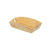 000.169/LT Ξύλινη Ψωμιέρα Βάρκα 20x14.5x6 cm, Ανοιχτό καφέ