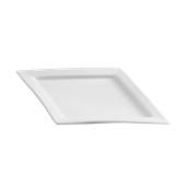 PY0AD180000 /A Πιάτο Ρόμβος Πορσελάνης 34x24cm, Σειρά PARTY, λευκό