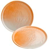 CIR2233AB43 /A Πιατέλα Πίτσας Πορσελάνης Φ33cm, Σειρά Cinzia, με σχέδιο, πορτοκαλί