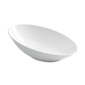 PY0AF070000 /A Οβάλ Λοξό Μπωλ Πορσελάνης 35x23x13cm, Σειρά PARTY, λευκό