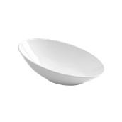 PY0AF080000 /A Οβάλ Λοξό Μπωλ Πορσελάνης 30x19x11cm, Σειρά PARTY, λευκό