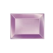 8051-88 Πιατέλα πλαστική PP ορθογώνια 28x19cm Λιλά ΠΕΡΛΕ, πολυτελείας