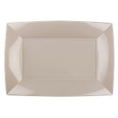 8055-41 Πιατέλα πλαστική PP ορθογώνια 34.5x23cm γκριζο-μπεζ πολυτελείας.