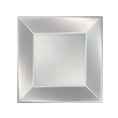 8050-81 Πιάτο φαγητού πλαστικό PP τετράγωνο 23x23cm λευκό ΠΕΡΛΕ, πολυτελείας