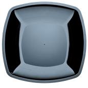 5056-19 Πιάτο μεγάλο πλαστικό PS τετράγωνο 30x30cm μαύρο πολυτελείας